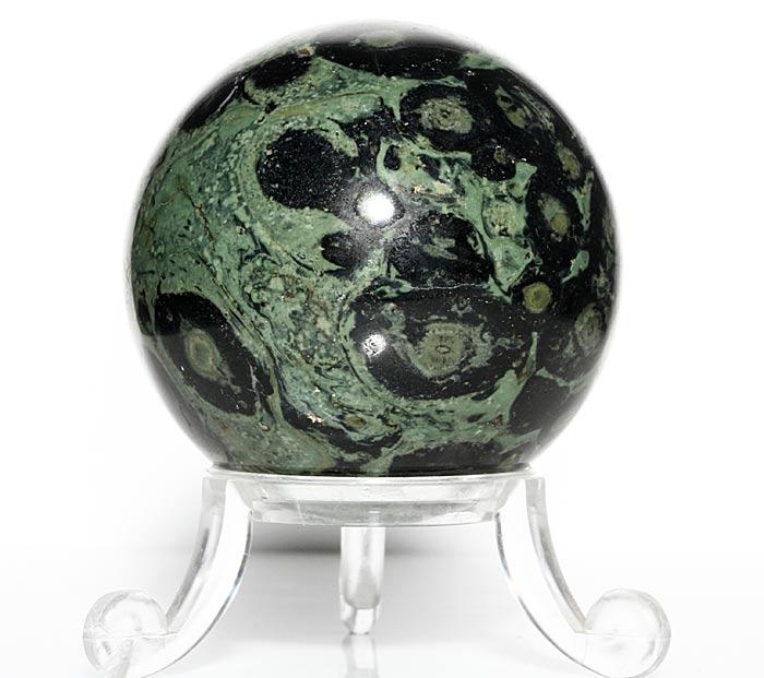 kambaba jasper sphere on stand